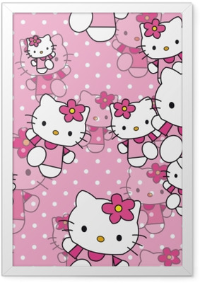 Gerahmtes Poster Hello Kitty