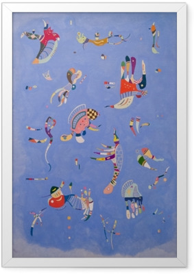 Gerahmtes Bild Wassily Kandinsky - Himmelblau