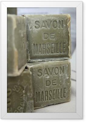 Ingelijste Poster Marseille zeep 4