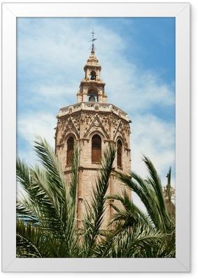 Gerahmtes Poster El Miguelete in Valencia