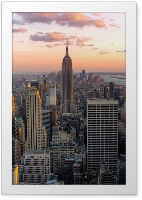 New York Empire state building Framed Poster