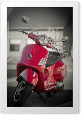 Scooter vintage Indrammet plakat