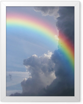 rainbow clouds Framed Poster