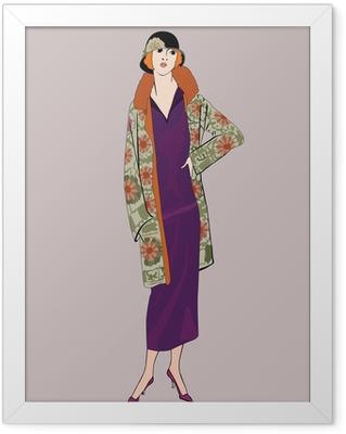 Poster en cadre Filles d'aileron (le style de 20): Rétro partie de mode