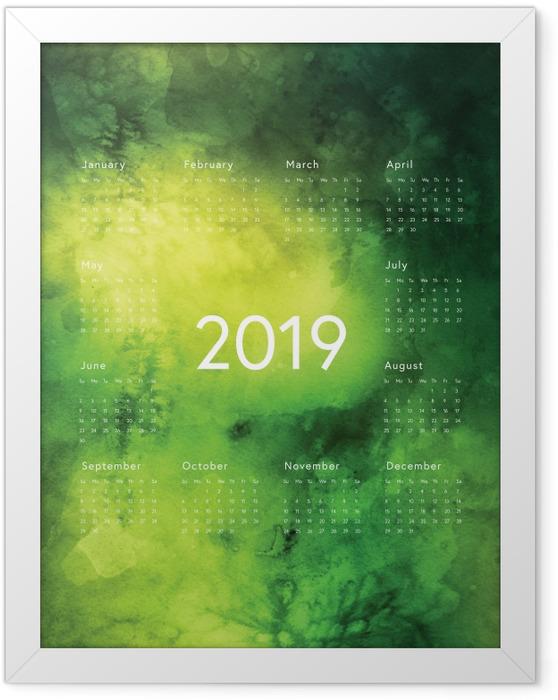 Çerçeveli Poster Takvim 2019 - Yeşil kurallar -