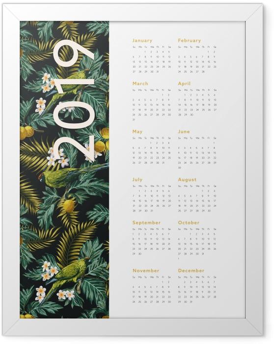 Ingelijste Poster Kalender 2019 - herfst -