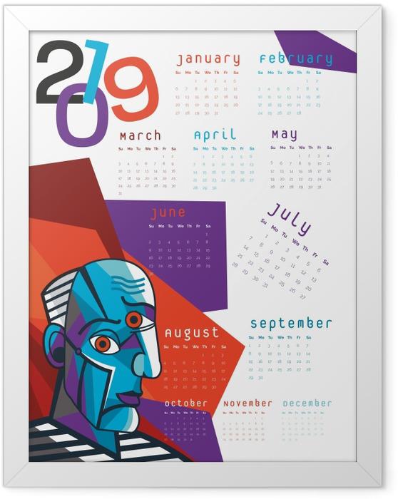 Poster en cadre Calendrier 2019 – Cubisme -
