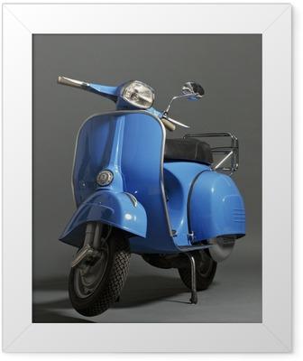 Klassisk italiensk scooter Indrammet plakat