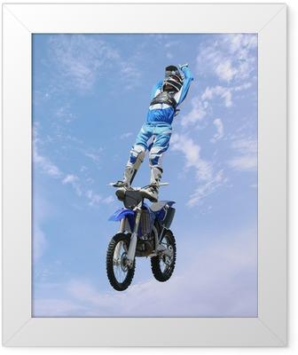 dirt bike stunt rider Framed Poster