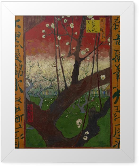 Plakat w ramie Vincent van Gogh - Kwitnąca śliwka - Reproductions