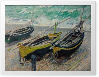 8bc561b9 Claude Monet - Three Fishing Boats Framed Canvas