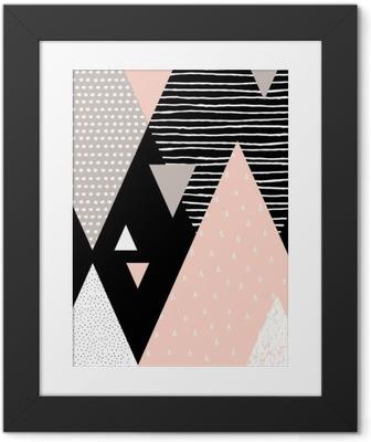 Poster i Ram Abstrakt geometrisk Liggande