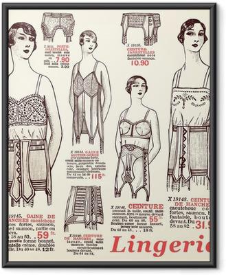 Poster in Cornice Lingerie 1930
