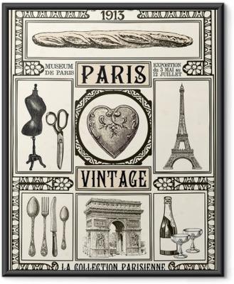 Poster in Cornice Poster Paris Vintage