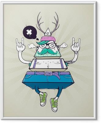 271ec423 Innrammet plakat Triangle hipster bisarre karakter