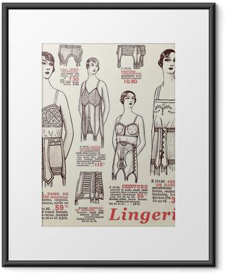 Plakát v rámu Spodní prádlo 1930