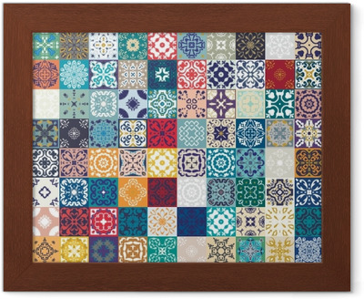 Carta da parati splendido design patchwork floreale piastrelle