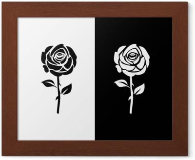 Black Rose Logo Poster Pixers We Live To Change