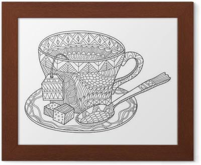 çay Bardağı Vektör Illüstrasyon Boyama Tuval Baskı Pixers Haydi