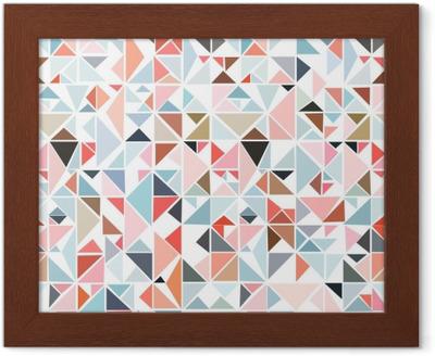 14573c0b Pixerstick-klistremerke Sømløs geometrisk mønster fra trekanter av forskjellige  farger på en hvit bakgrunn. • Pixers® - Vi lever for forandring