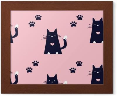 Černá chaotická kočička