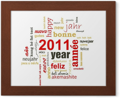 Sticker 2011 Gelukkig Nieuwjaar In Alle Talen Pixers We Leven