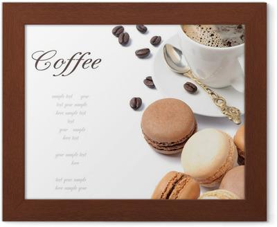 bc7667dd Fototapet Vektor sømløs mønster med hånd trukket te og kaffe og dessert  illustrasjoner. kan brukes til bakeri, bakverk, kafé, butikk og produkter.
