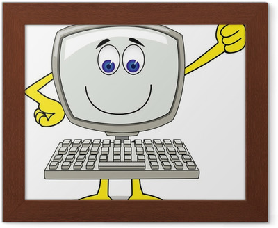 Canvastavla Dator tecknad • Pixers® - Vi lever för förändring 0fa311684f77a