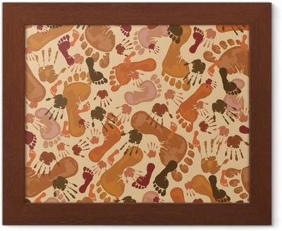 Quadri su tela impronte di mani u pixers viviamo per il cambiamento