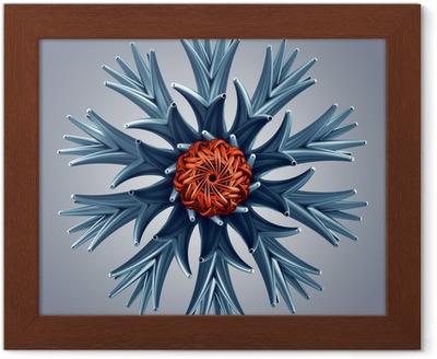 Fiocchi Di Neve Di Carta 3d : Quadro su tela 3d astratto forma di fiocco di neve fiore della