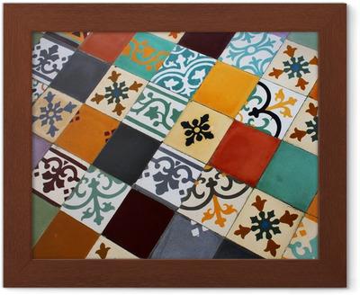 Piastrelle Di Cemento Colorato : Quadro su tela terra colorata piastrelle di cemento u2022 pixers