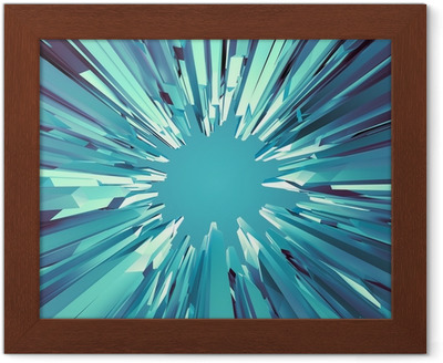 3d abstract fantastic ice crystal background canvas print u2022 pixers