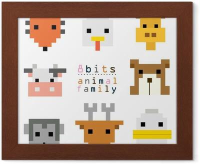 Tête Pixel Art Animal