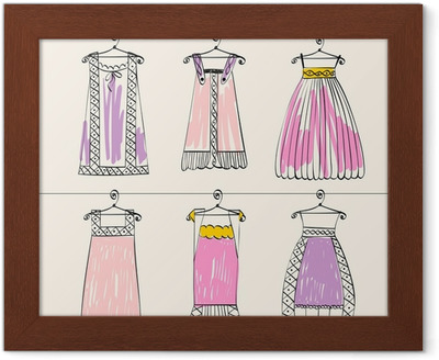 19bcfa760d69 Poster Vektor fashionabla vackra kläder för små flickor • Pixers® - Vi  lever för förändring