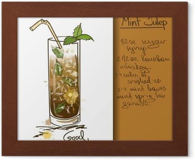 Obraz Na Platne Ilustrace S Rucne Kreslenymi Mint Whisky Koktejl