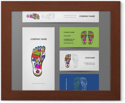 Poster Les Cartes De Visite Conception Massage Reflexologie Plantaire O PixersR