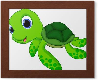 Poster en cadre Bande dessinée mignonne de tortue