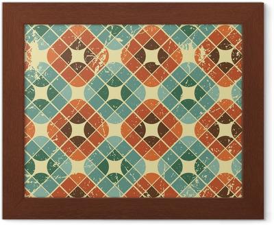 Quadro su tela vintage piastrelle con texture grunge seamless