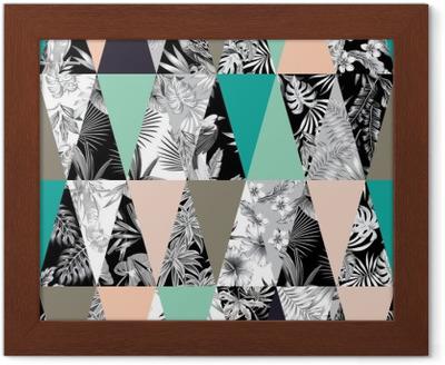 Lámina Enmarcada De fondo sin fisuras mosaico tropical