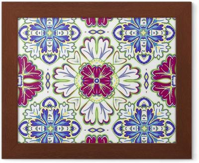 Vacker sömlös dekorativt kakel bakgrund vektor illustration