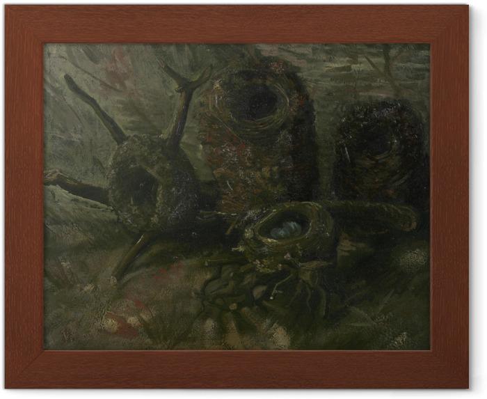 Çerçeveli Poster Vincent van Gogh - Kuş yuvaları - Reproductions