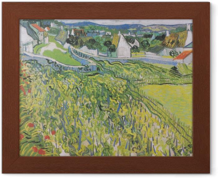 Plakat w ramie Vincent van Gogh - Winnice w Auvers - Reproductions