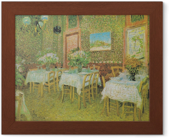 Poster en cadre Vincent van Gogh - Intérieur d'un restaurant - Reproductions