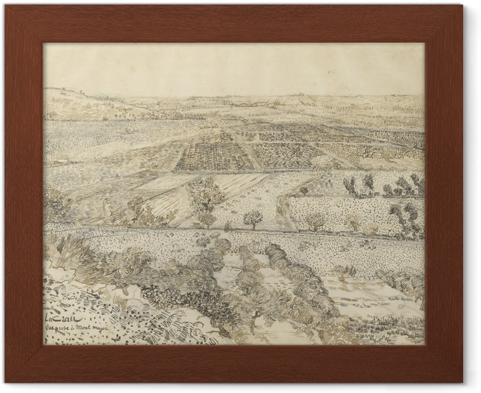 Poster in Cornice Vincent van Gogh - Vista di La Crau da Montmajour - Reproductions