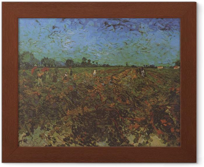Ingelijste Poster Vincent van Gogh - De groene wijngaard - Reproductions