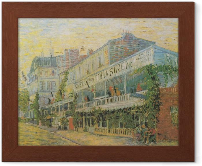 Póster Enmarcado Vincent van Gogh - Restaurante de la Sirene en Asnieres - Reproductions