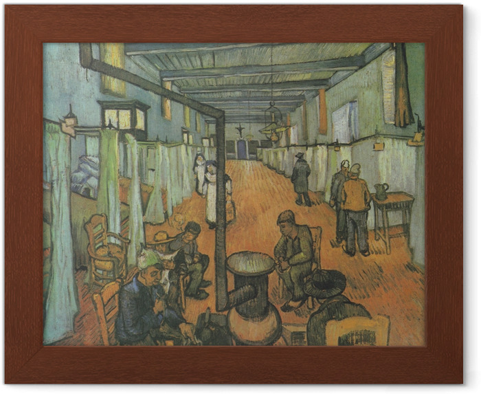 Póster Enmarcado Vincent van Gogh - Dormitorio en el hospital en Arles - Reproductions