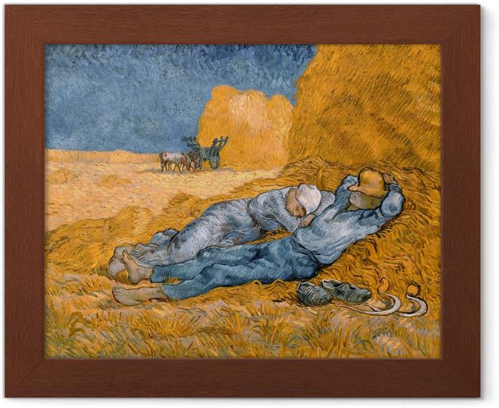 Plakat w ramie Vincent van Gogh - Południowa siesta - Reproductions