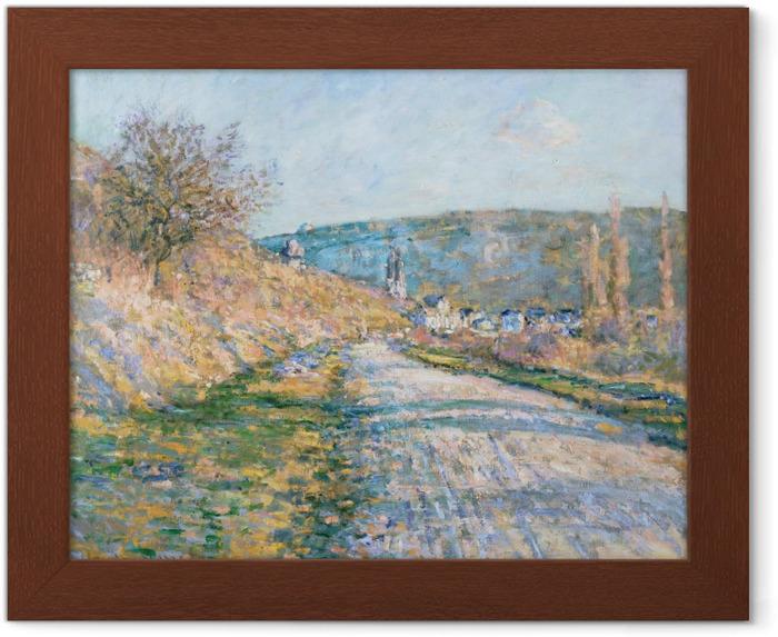 Póster Enmarcado Claude Monet - El camino a Vetheuil - Reproducciones