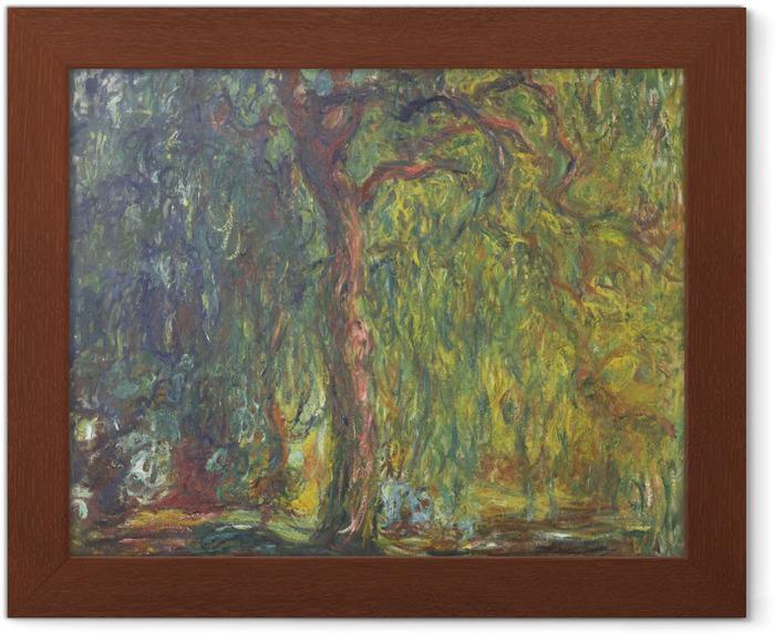 Póster Enmarcado Claude Monet - Sauce llorón - Reproducciones